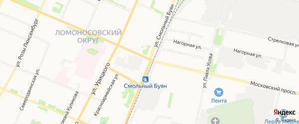 ГСК Вега на карте улицы Смольного Буяна с номерами домов