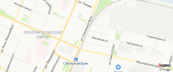 ГСК Надежда на карте Нагорной улицы с номерами домов