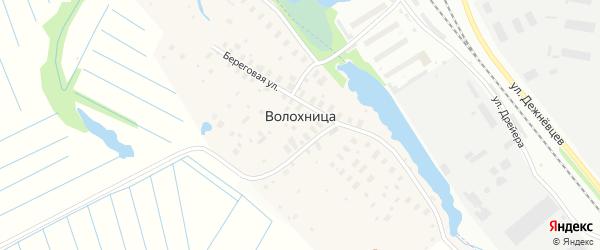 Береговая улица на карте деревни Волохницы с номерами домов