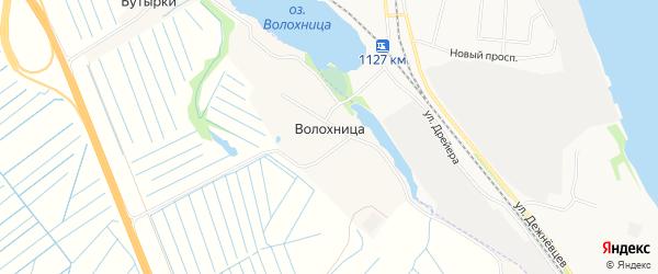 Карта деревни Волохницы в Архангельской области с улицами и номерами домов