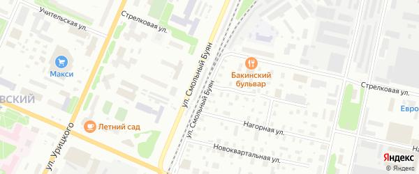 Учительская улица на карте Архангельска с номерами домов