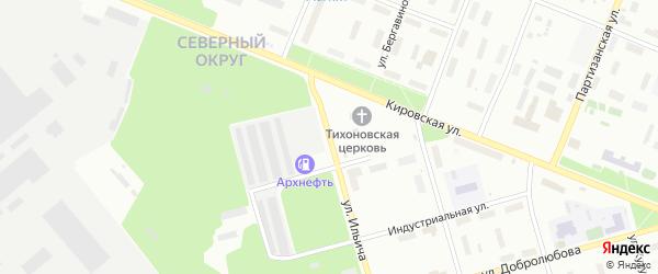 Улица Ильича на карте Архангельска с номерами домов