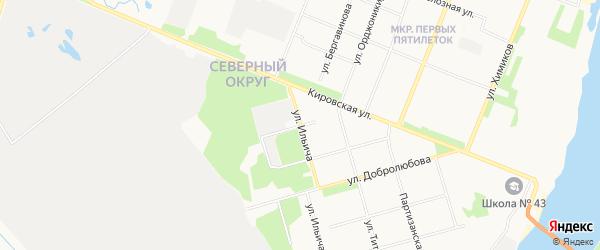 ГСК Алеся на карте улицы Мичурина с номерами домов