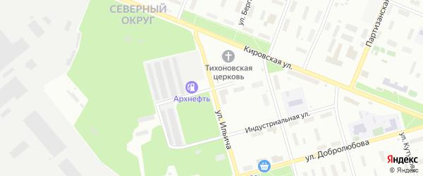 Улица Мичурина на карте Архангельска с номерами домов