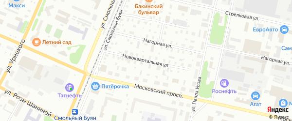 Новоквартальная улица на карте Архангельска с номерами домов
