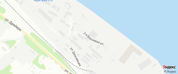 2-я улица на карте Архангельска с номерами домов