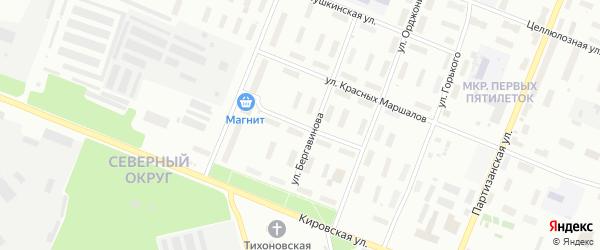 Улица Тельмана на карте Архангельска с номерами домов