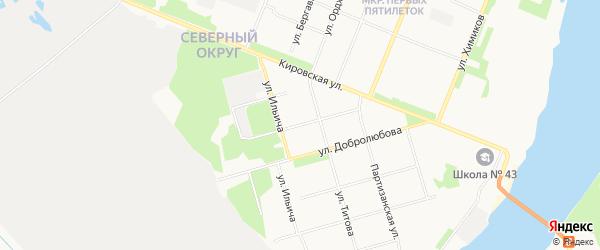 ГСК Мотор-2 на карте Индустриальной улицы с номерами домов
