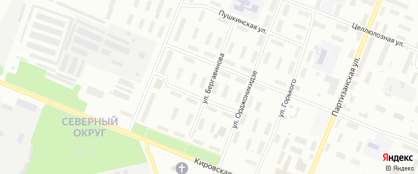Улица Бергавинова на карте Архангельска с номерами домов