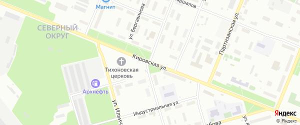 Кировская улица на карте Архангельска с номерами домов