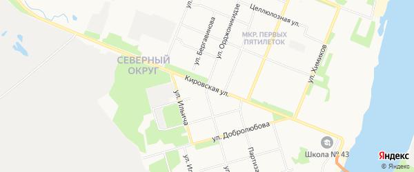 ГСК Целлюлозник на карте Кировской улицы с номерами домов