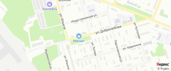 Улица Добролюбова на карте Архангельска с номерами домов