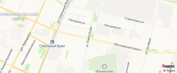 ГСК Вече-2 на карте улицы Павла Усова с номерами домов