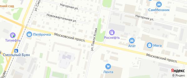 Улица Павла Усова на карте Архангельска с номерами домов