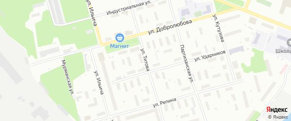 Улица Титова на карте Архангельска с номерами домов