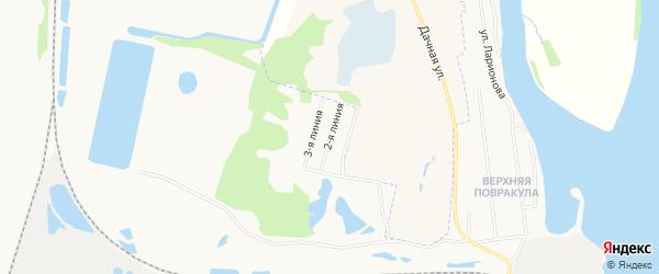 Карта населенного пункта ТИЗ Целлюлозник 2-я линии города Архангельска в Архангельской области с улицами и номерами домов