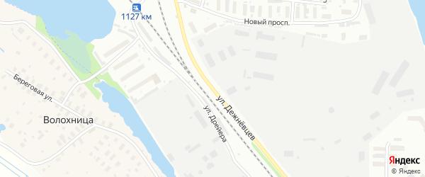 Улица Дежневцев на карте Архангельска с номерами домов
