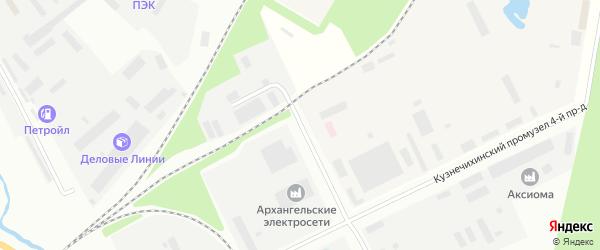 Проезд 7-й (Кузнечихинский промузел) на карте Архангельска с номерами домов
