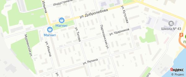 Улица Ударников на карте Архангельска с номерами домов
