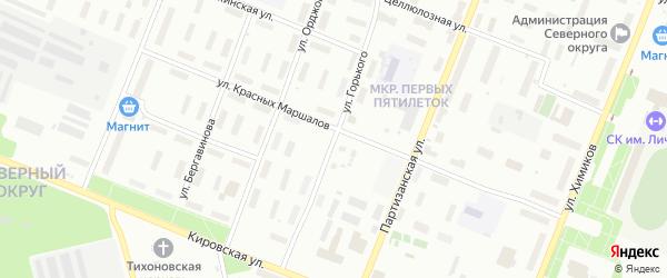 Улица Горького на карте Архангельска с номерами домов