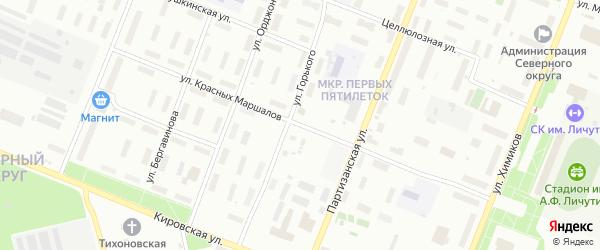 Улица Красных маршалов на карте Архангельска с номерами домов