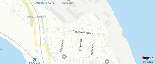 Северный проспект на карте Архангельска с номерами домов