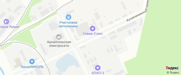 4-я улица на карте Архангельска с номерами домов