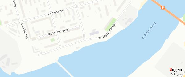Улица Мусинского на карте Архангельска с номерами домов