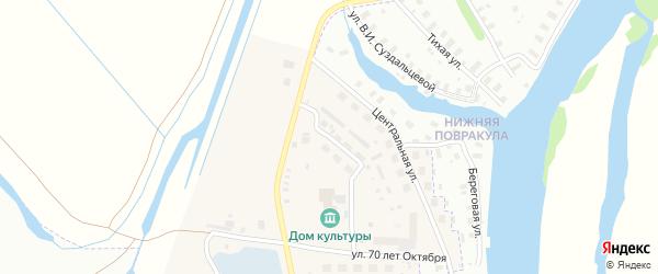 Молодежная улица на карте Повракульской деревни с номерами домов