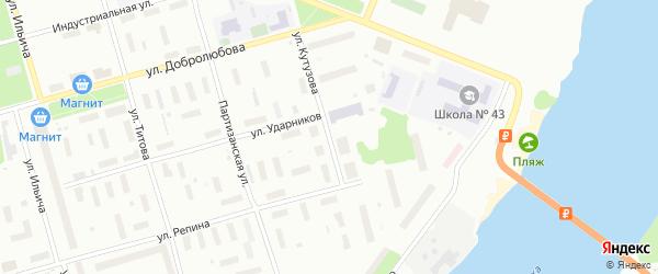 Улица Кутузова на карте Архангельска с номерами домов