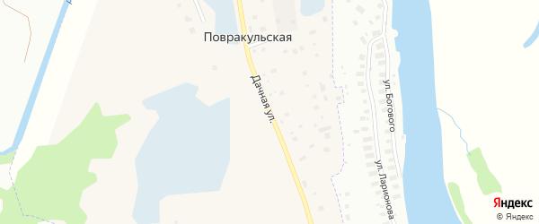 Дачная улица на карте Повракульской деревни с номерами домов