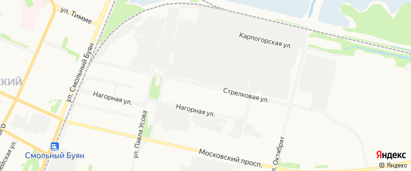 ГСК Вираж-Н на карте Стрелковой улицы с номерами домов