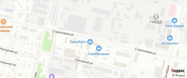 Стрелковая улица на карте Архангельска с номерами домов