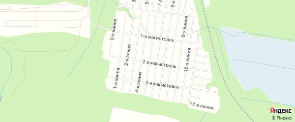 Карта садового некоммерческого товарищества Магистрали в Архангельской области с улицами и номерами домов