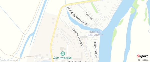 Центральная улица на карте Повракульской деревни с номерами домов