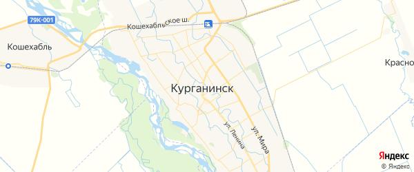 Карта Курганинска с районами, улицами и номерами домов