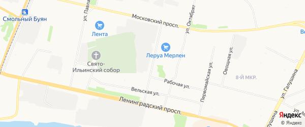 ГСК Кехта на карте улицы Касаткиного с номерами домов