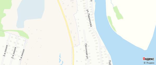 Песочная улица на карте Архангельска с номерами домов