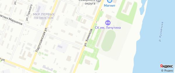 Улица Химиков на карте Архангельска с номерами домов