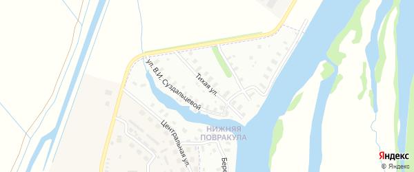 Тихая улица на карте Архангельска с номерами домов