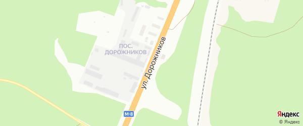 Улица Дорожников на карте Архангельска с номерами домов
