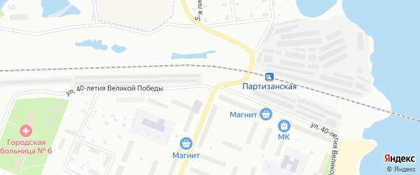 Улица 40-летия Великой Победы на карте Архангельска с номерами домов