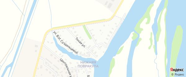 Нижняя Повракульская улица на карте Архангельска с номерами домов
