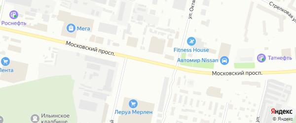 Московский проспект на карте Архангельска с номерами домов