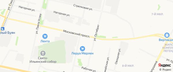 Московский ГСК на карте улицы Прокопия Галушина с номерами домов