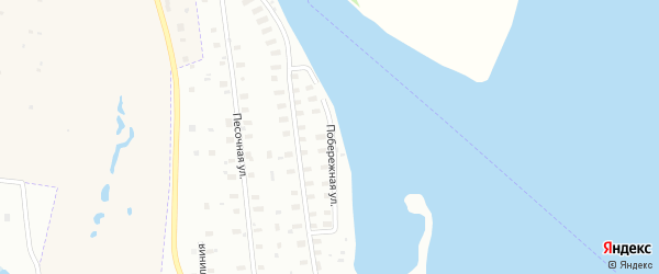 Побережная улица на карте Архангельска с номерами домов