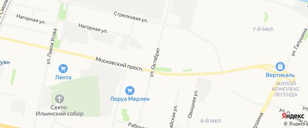 ГСК Карбюратор на карте улицы Октябрята с номерами домов