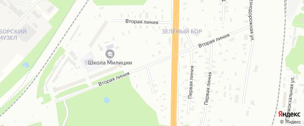 2-я линия на карте населенного пункта КИЗ Лета с номерами домов