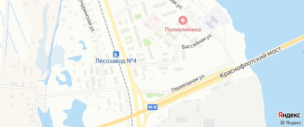 Улица Павла Орлова на карте Архангельска с номерами домов