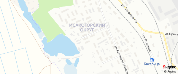 Аллейная улица на карте Архангельска с номерами домов